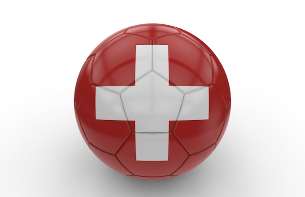 Soccer ball with swiss flag