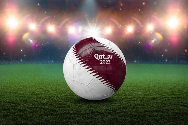 Soccer ball world cup qatar 2022 3d illustration