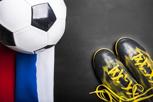 ロシア国旗でのサッカー選手権