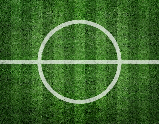 Soccer field center top view background