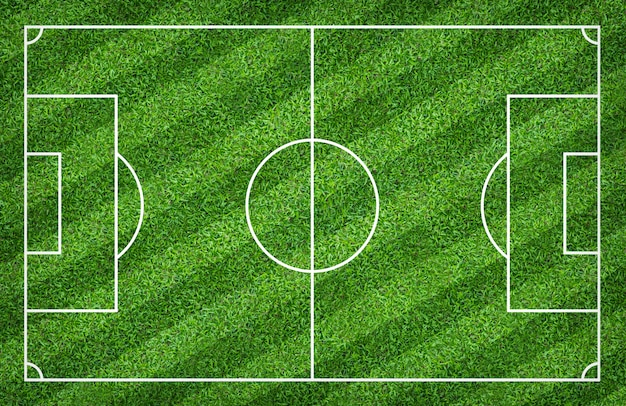 Soccer field or football field for background. with green court pattern.
