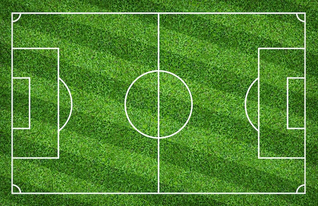 Soccer field or football field for background. with green lawn pattern.