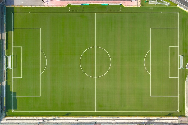 Soccer field seen from above