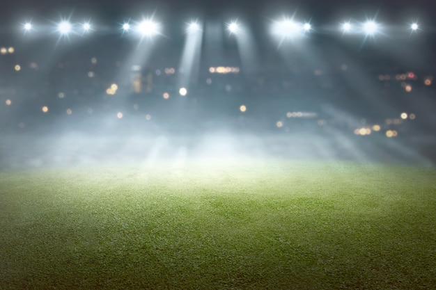 Soccer field with blur spotlight