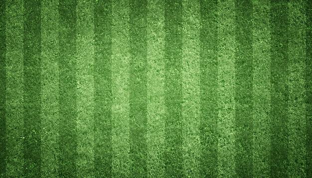 緑の芝生とサッカー場。スポーツ芝生の背景