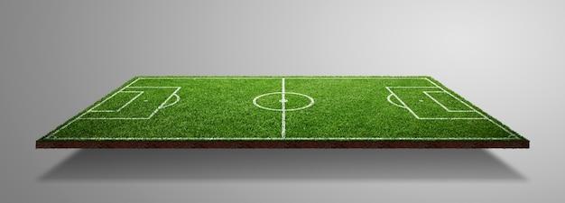 Футбольное поле с зеленой травой. спортивный фон газона