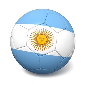 Футбольный футбольный мяч с флагом аргентины