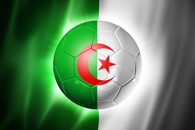 アルジェリアの国旗とサッカーサッカーボール