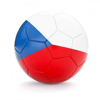 Soccer football ball with czech republic flag