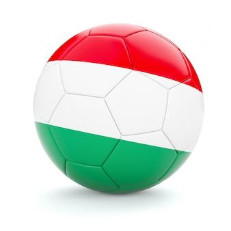 ハンガリーの国旗とサッカーサッカーボール