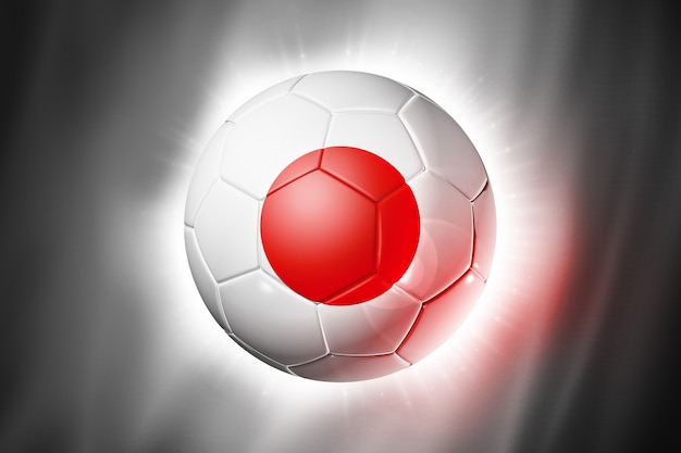 Soccer football ball with japan flag