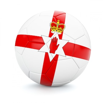Soccer football ball with northern ireland flag