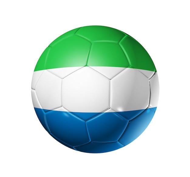 Soccer football ball with sierra leone flag