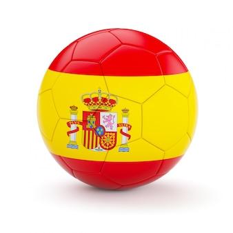 スペインの国旗とサッカーサッカーボール