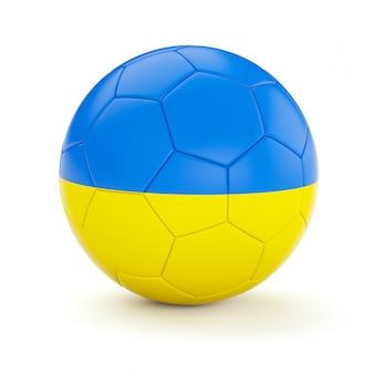 Футбольный мяч с флагом украины