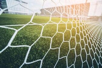 Soccer football net background