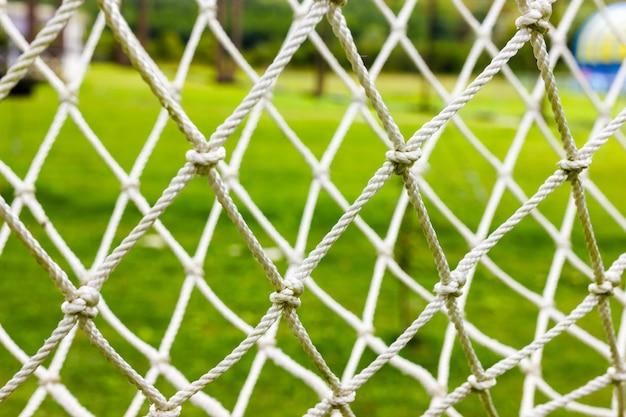 サッカーまたはサッカーネットの背景。