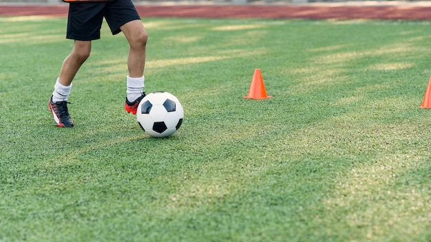 Soccer players on training session.