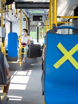 公共交通機関の社会的距離