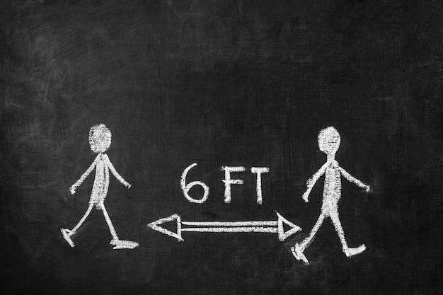 Концепция социального дистанцирования с рисунком