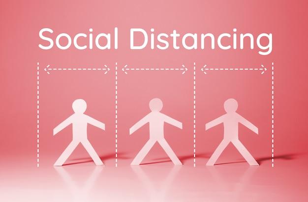 Социальное дистанцирование при вспышке коронавируса