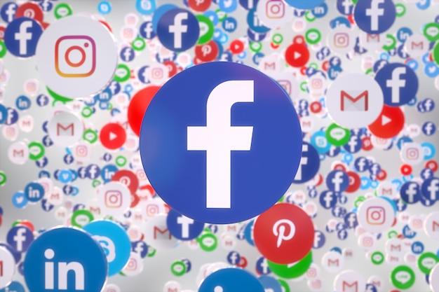 Social media app random floating 3d