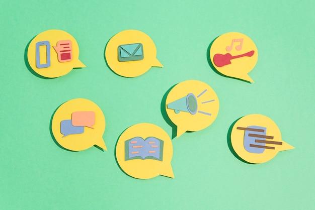 Social media concept symbols