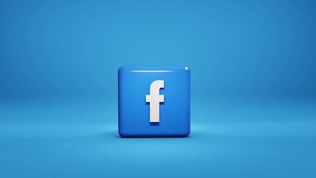 Social media facebook logo 3d illustration