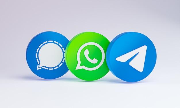 Социальные медиа значок 3d на белом фоне.