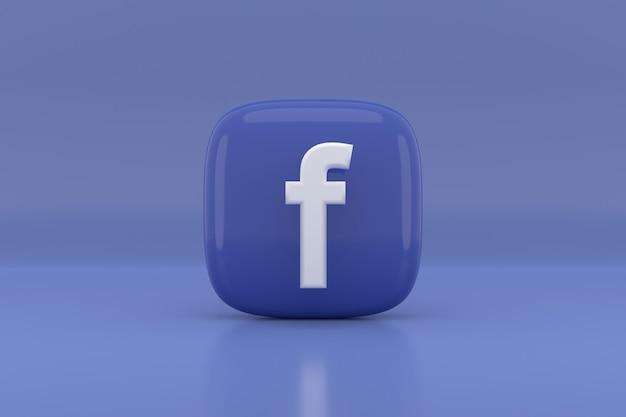 소셜 미디어 아이콘 디자인. 3d 렌더링.