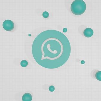 Social media logo 3d rendering