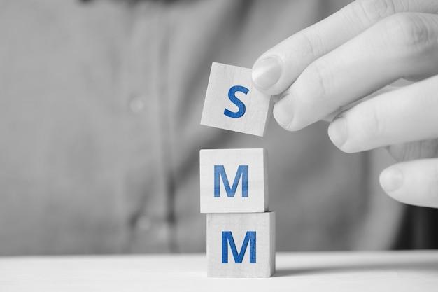 Social media marketing concept as action development