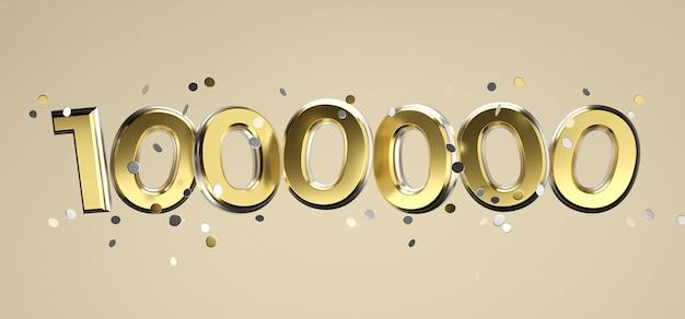 Социальная сеть сми любовь и как значок сердца с одним миллионом подписчиков подписывают на розовом фоне. 3d рендеринг