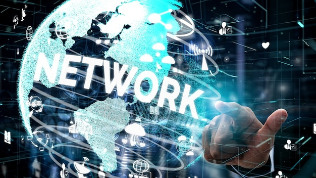 Social media and people network technology conceptual
