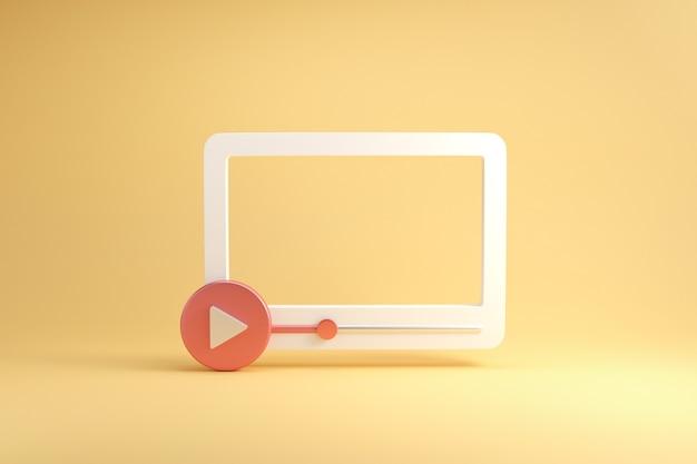 Social media, video media player interface