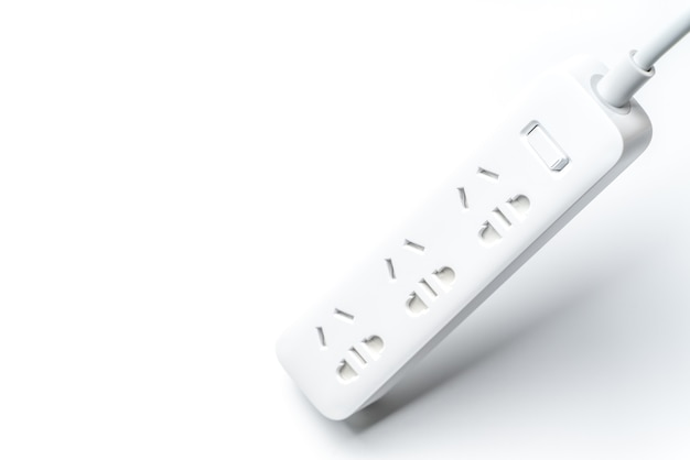 Socket and plug electric power bar. save energy and reduce energy efficiency