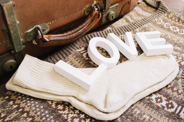 Socks and love word