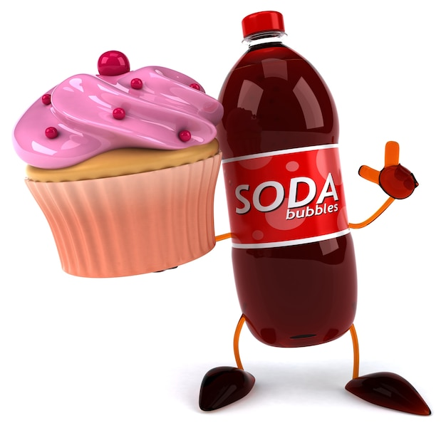 Сода 3d персонаж