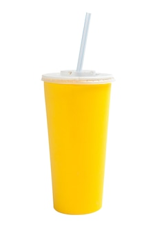 Бумажный стаканчик соды, изолированные на белом фоне