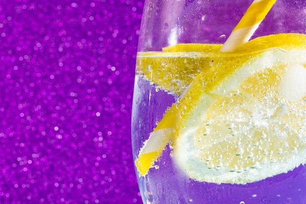 Soda on shiny purple