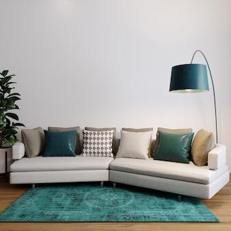 リビングルームのソファと枕