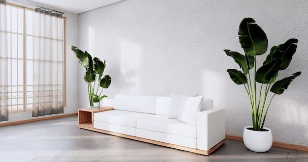 소파 가구 및 모형 현대적인 객실 디자인 minimal.3d 렌더링