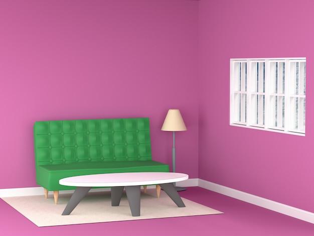 Диван в розовой комнате