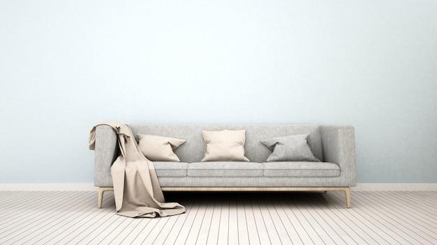 Sofa in living room for artwork