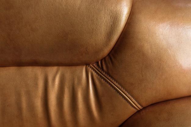 Sofa texture. brown antique leather texture, tan
