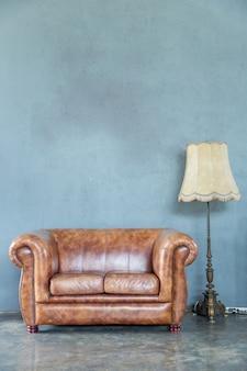Sofa with lamp