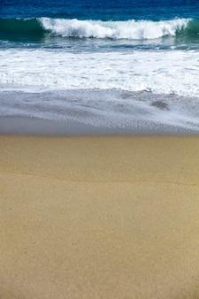 Soft beautiful caribbean sea wave on sandy beach