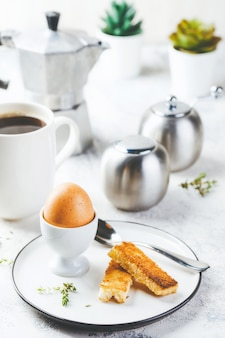 Soft boiled egg for breakfast