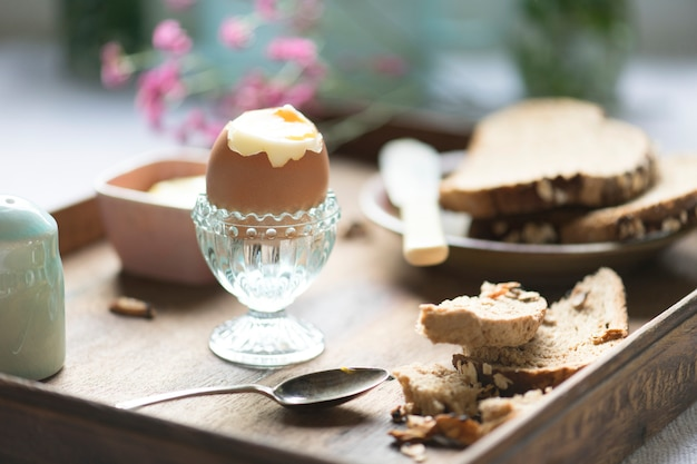 Soft boiled egg food photography recipe idea