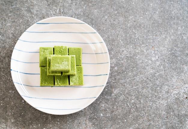Soft chocolate green tea